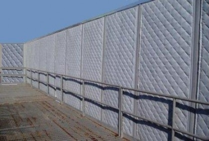 Industrial Soundproof Curtains at a work site