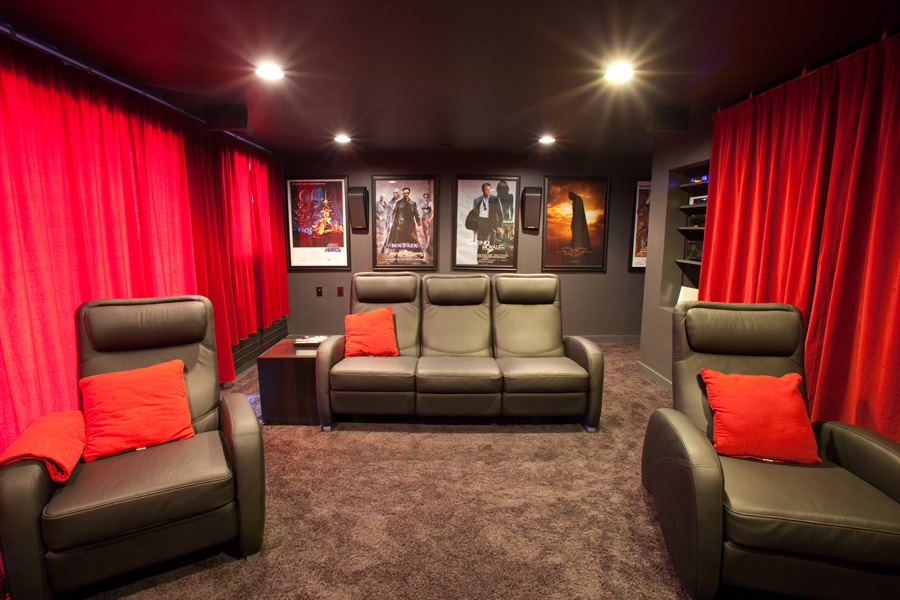 Home Theater Blackout Shades Motorized